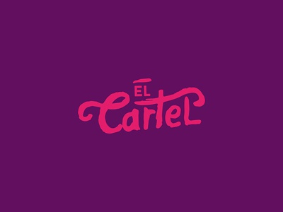 El Cartel custom lettering graphic design logo design cartel lettering design mexico typography branding logotype logo