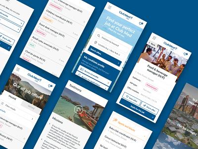Club Med - Mobile First careers website mobile first mobile website ux user ui jobs hr flat design careers