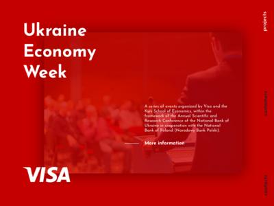 Ukraine  Economy  Week education conference page landing landing page shadow ui design dailyui red economics visa