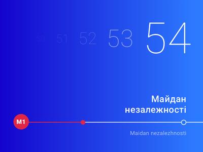 Countdown timer in the subway bar progress progress bar line blue dailyui subway metro time timer