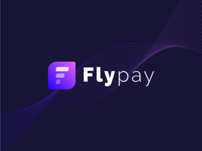 Flypay logo blue pink fly pay f logo f identity logo