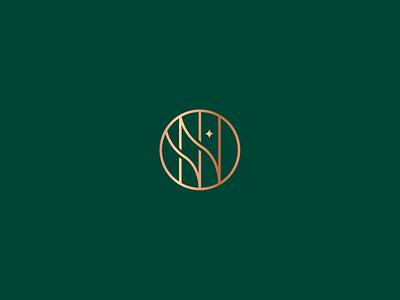 NostraVilla - Monogram monogram star logo star design typography type residence identity icon modern logo circle logotype nv minimalist