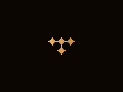 Tendence Symbol minimalism boat sea gold monogram black logo logotype brand star navigation minimalist