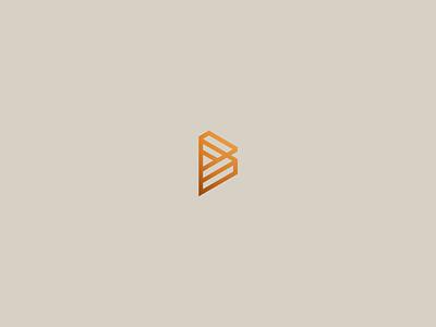 Isometric B elegant grid logo architect minimalist logotype isometric