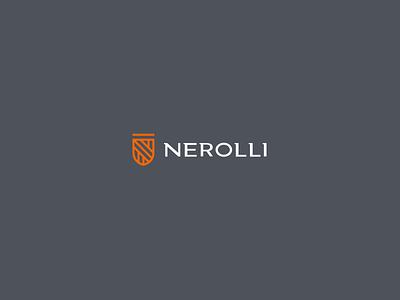 Nerolli EPI'S shield safety construction company constructor modern elegant typography logo minimalist brand logotype