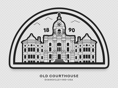 Old Courthouse 1890 - Evansville Indiana