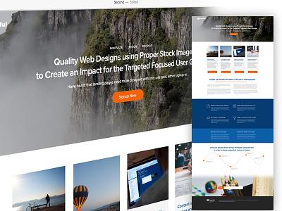 Landing Page Design ui clean landing web landingpage