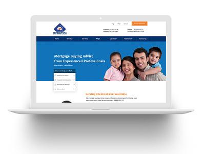 AFHL Website Design home mortgage loans ui web design clean