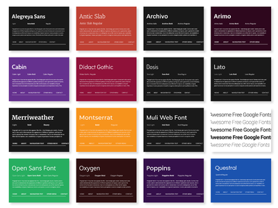 30 Awesome Google Fonts typography design web fonts
