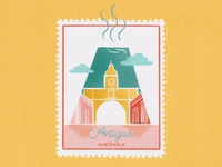 Cities stamps series - Antigua, Guatemala