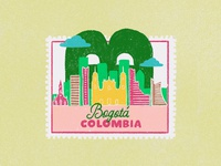 Cities stamps series - Bogotá, Colombia
