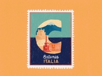 Cities stamps series - Catania, Italy