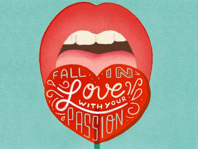 Fall in love - Lettering