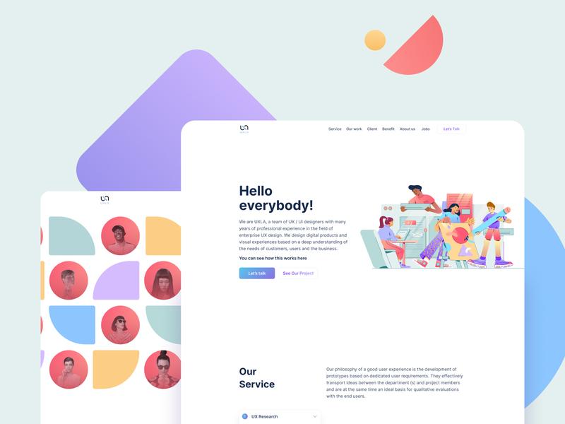 Landing Page Design ui design website landing page illustration uidesign design ui