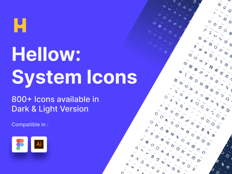 Hellow : System Icons ui8 iconography ui icons icons icon design icon illustration website clean design ui