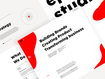 Design Agency landing page exploration