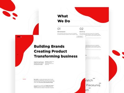Design Agency landing page exploration 2