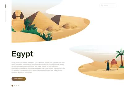 Expedia Travel Illustration of Egypt