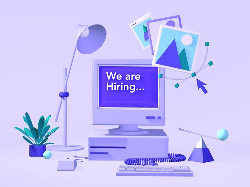 We're hiring! leverege illustraion 3d design jobs iot development iot product designer hiring