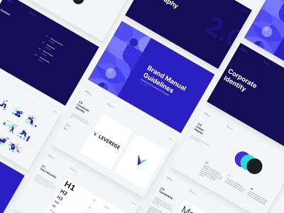 Leverege Brand Manual Guideline leverege brand brand identity concept iot development iot clean design