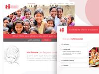 NGO Website Landing Page