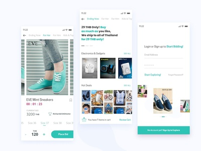Ecommerce Product Page iOS Design
