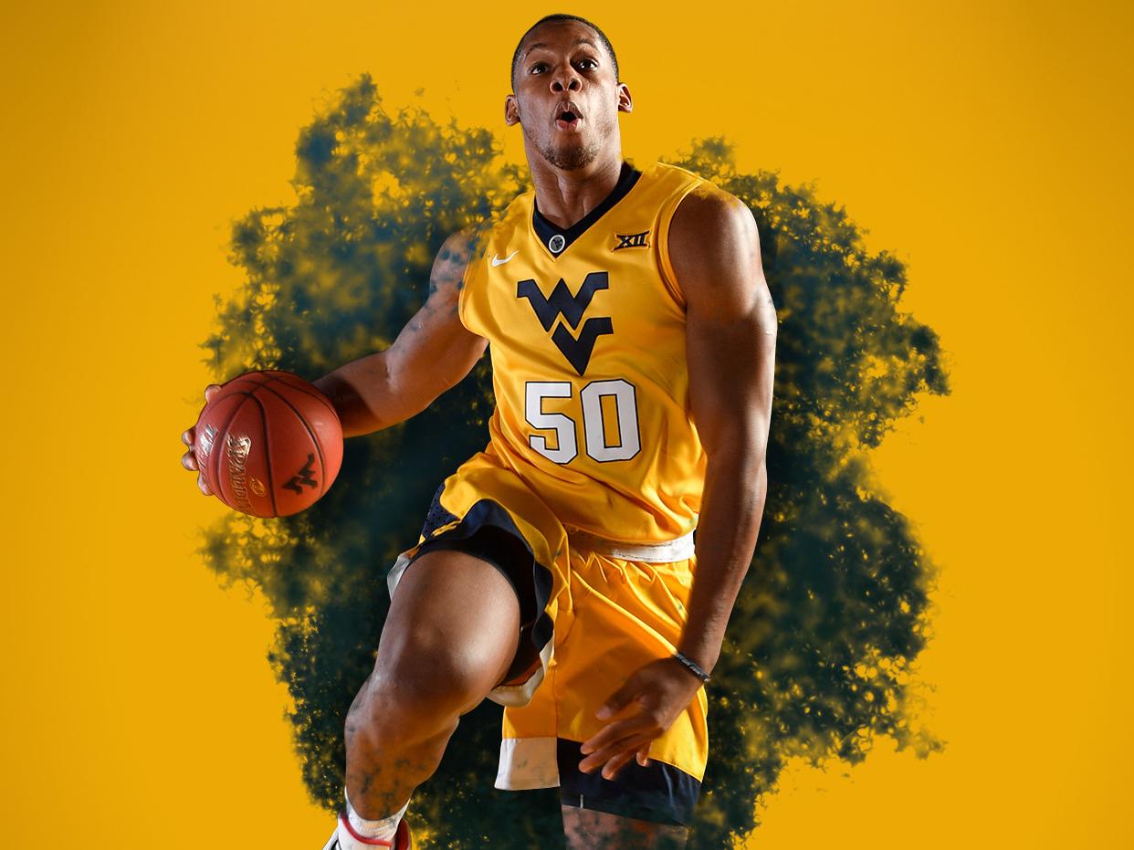WVU Athletics: Men's Basketball Wallpaper basketball graphic college branding sports wvu design west virginia graphic design