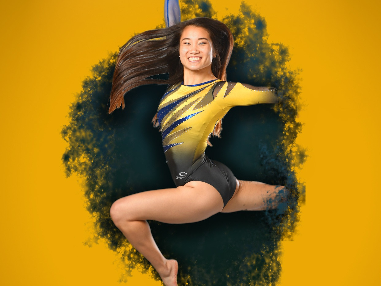 WVU Athletics: Gymnastics Wallpaper gymnastics college branding sports design wvu west virginia graphic design