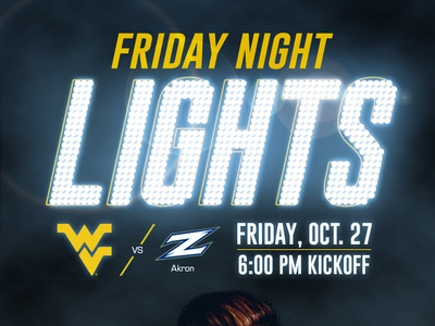 WVU Men's Soccer: Friday Night Lights - Announcement Graphic