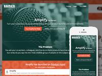 Amplify Landing Page