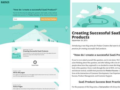 Product Success Blog medium future mountain blog saas product
