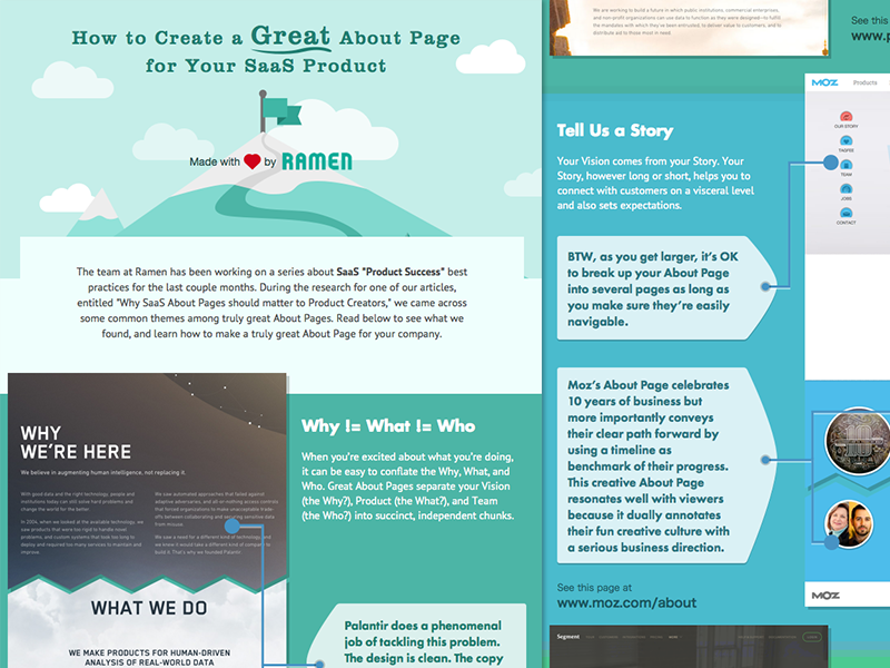 How to Create Great About Pages by Matt Haltom on Dribbble