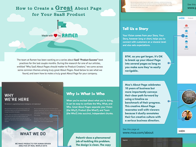 How to Create Great About Pages infographic saas about page