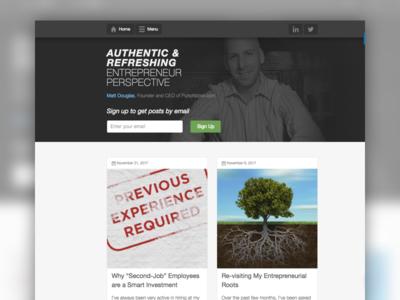 Matt Douglas Blog - Entrepreneur Perspective wordpress entrepreneur blog
