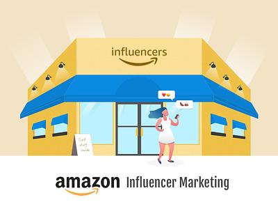 Amazon Influencer Marketing illustration shop amazon