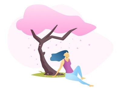 Natural Treatment for Period Pain tree lady illustration