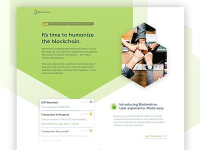 Blocknative - Humanize the blockchain. responsive layout branding blockchain