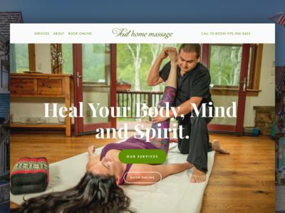 Vail Home Massage branding website massage