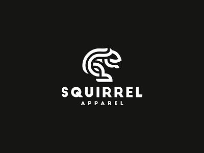 Squirrel Apparel negativespace design dribbble dog cat squirrel-logo art line modern elegant minimal illustration geometric graphic design genius animal branding creative logo squirrel