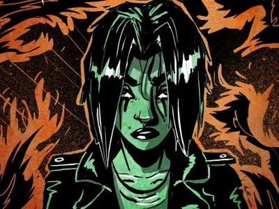 Fire in the Dark graphic art painting inks posterdesign poster design girl horror ipad drawing gamedev game art illustration poster art promotional art