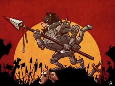 The Warrior Cat comic cat cartoon color painting digitalpainting inks art design illustration procreate ipad