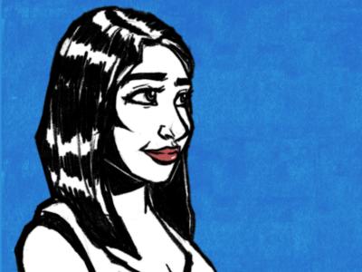Girl texture girl pencil portrait blue blackandwhite design illustration painting sketch sketchbook drawing