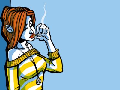 The fashion girl girl cover sketchbook sketch comic cigarette fashion design graphicdesign drawing illustration art