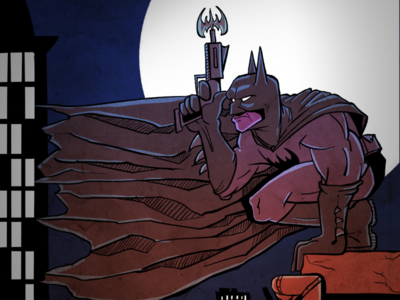The Dark Knight digitalart illustrator art drawing inks dark city design illustration comic superhero batman