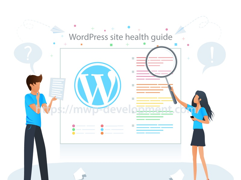 Wordpress site health guide seo flat design illustration vector guide health site magicallandart wordpress