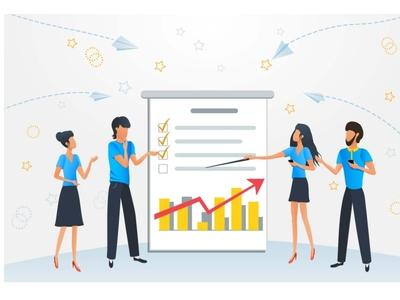 Business people meeting presentation