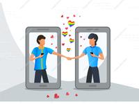 LGBT gay couple