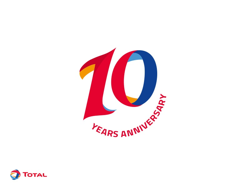10 years logo 10 years logo by abdallagad dribbble dribbble 3386