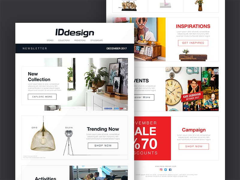 online newsletter layout by abdallagad dribbble