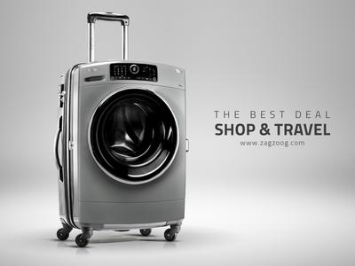 Shop & Travel photo manipulation retouch creative digital print advertising campaign travel shop electronics home appliances